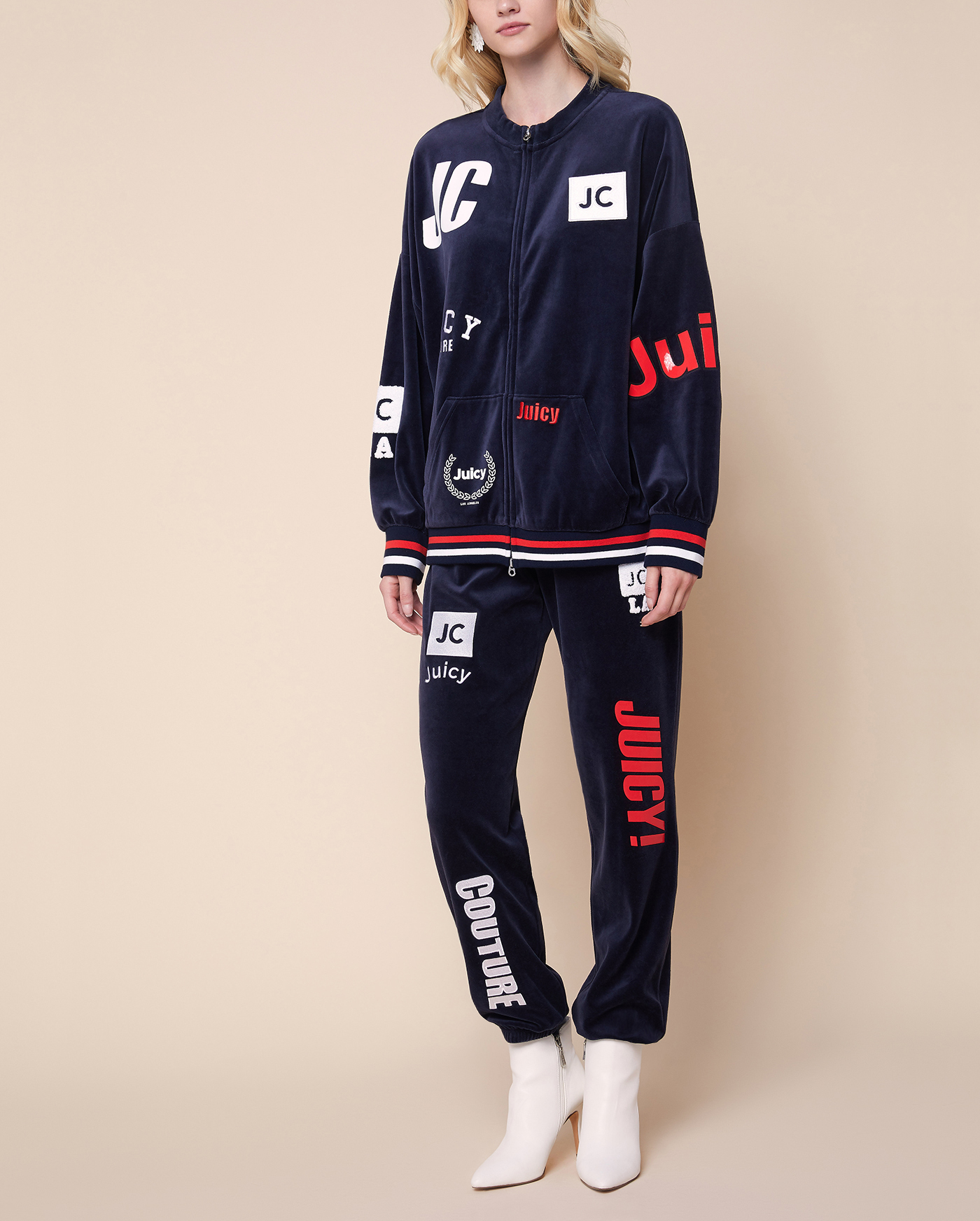 Толстовка Mixed Logos Velour