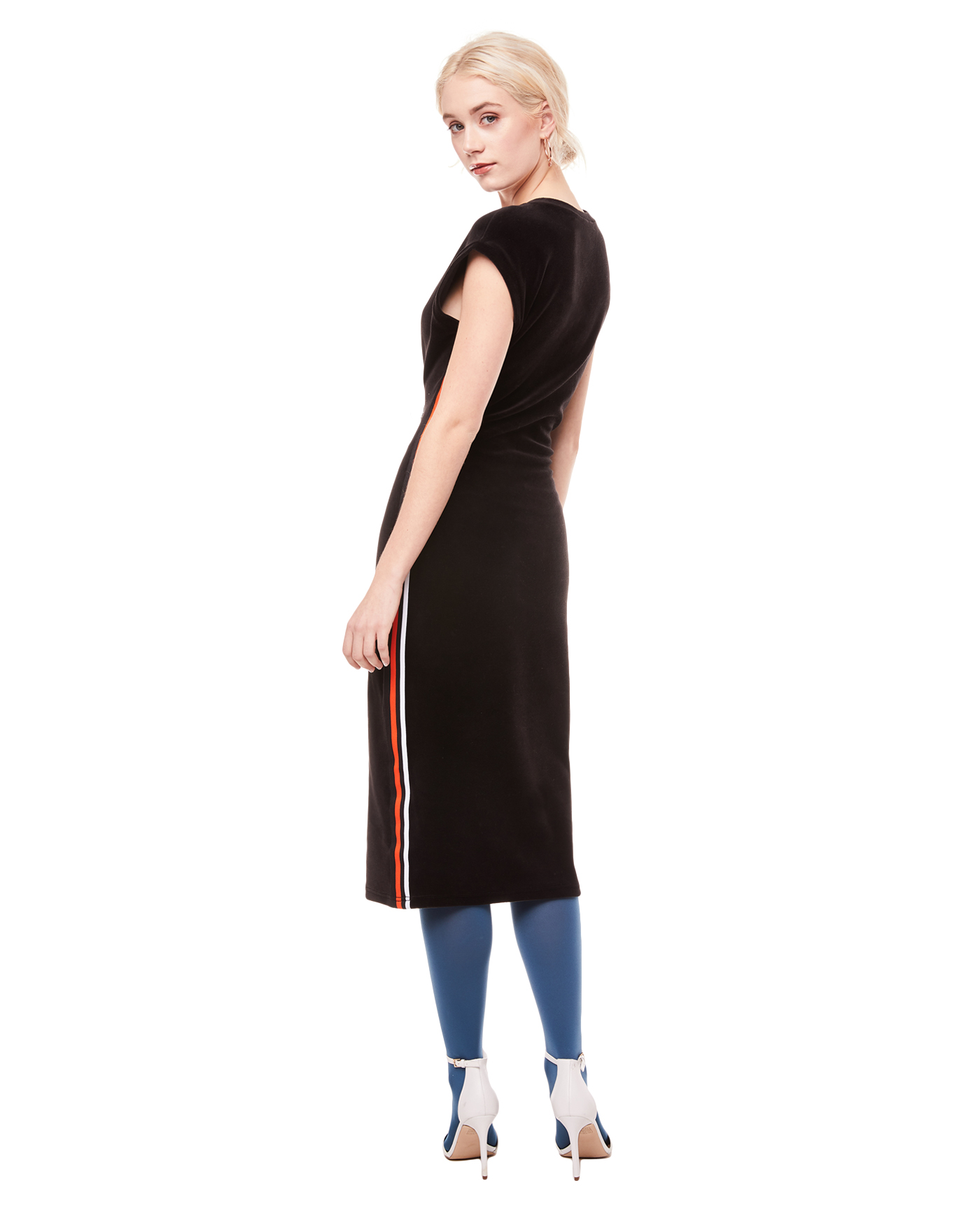 Платье Stretch Velour Fitted Midi