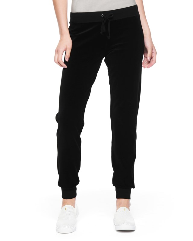 Брюки Juicy Gothic Crystals Velour High-Rise Zuma