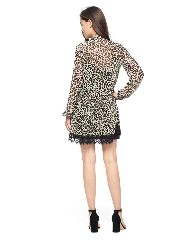 Платье Chateau Leopard Lace Trim