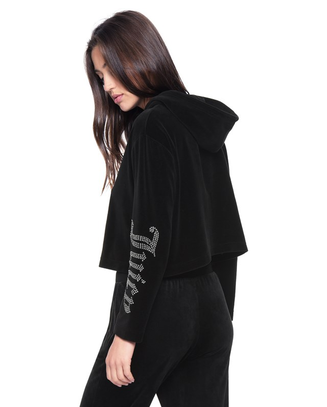 Толстовка Juicy Gothic Crystals Velour Hooded