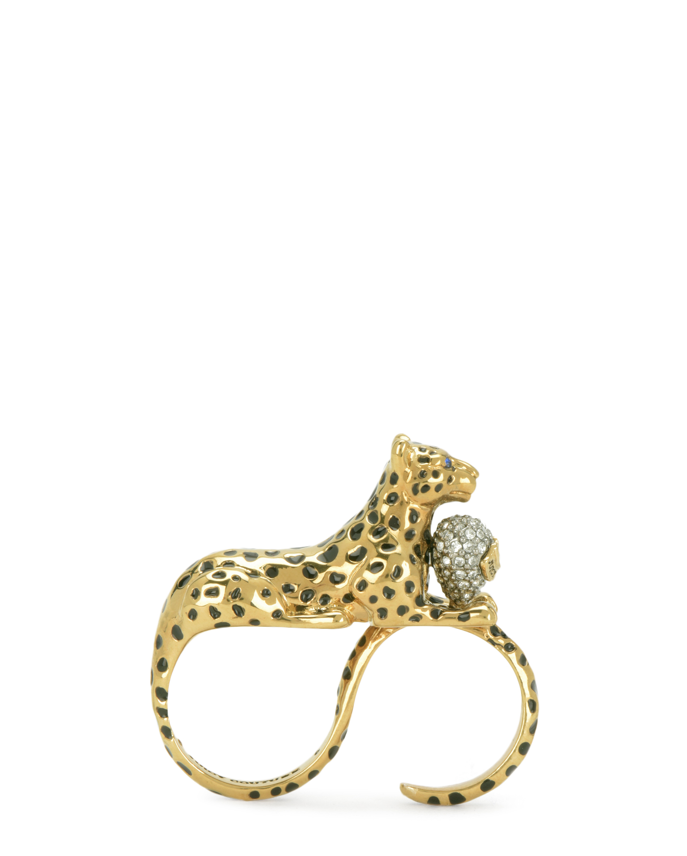 Кольцо Luxe Leopard Double Finger Ring