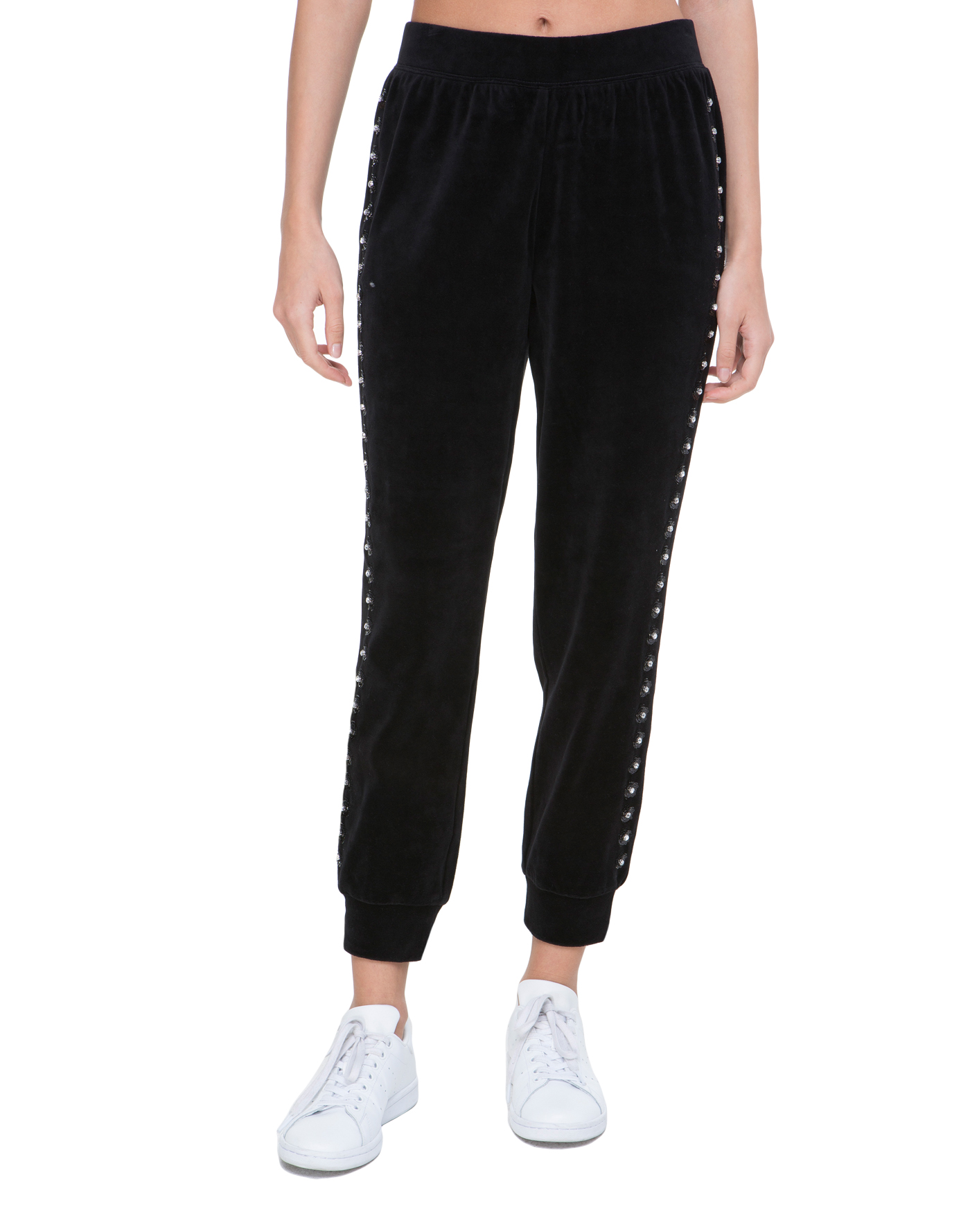 Брюки Velour Floral Embellished Pant
