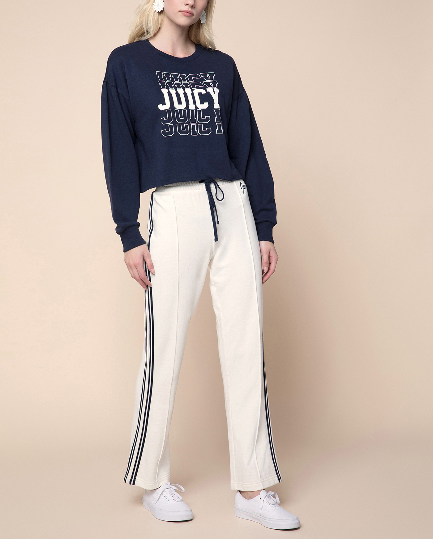 Толстовка Juicy Mirrored Logo Terry Pullover