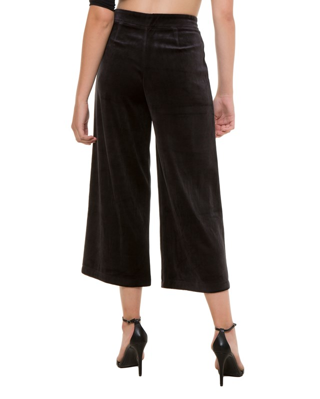 Брюки-Кюлоты Velour Cropped Wide Leg