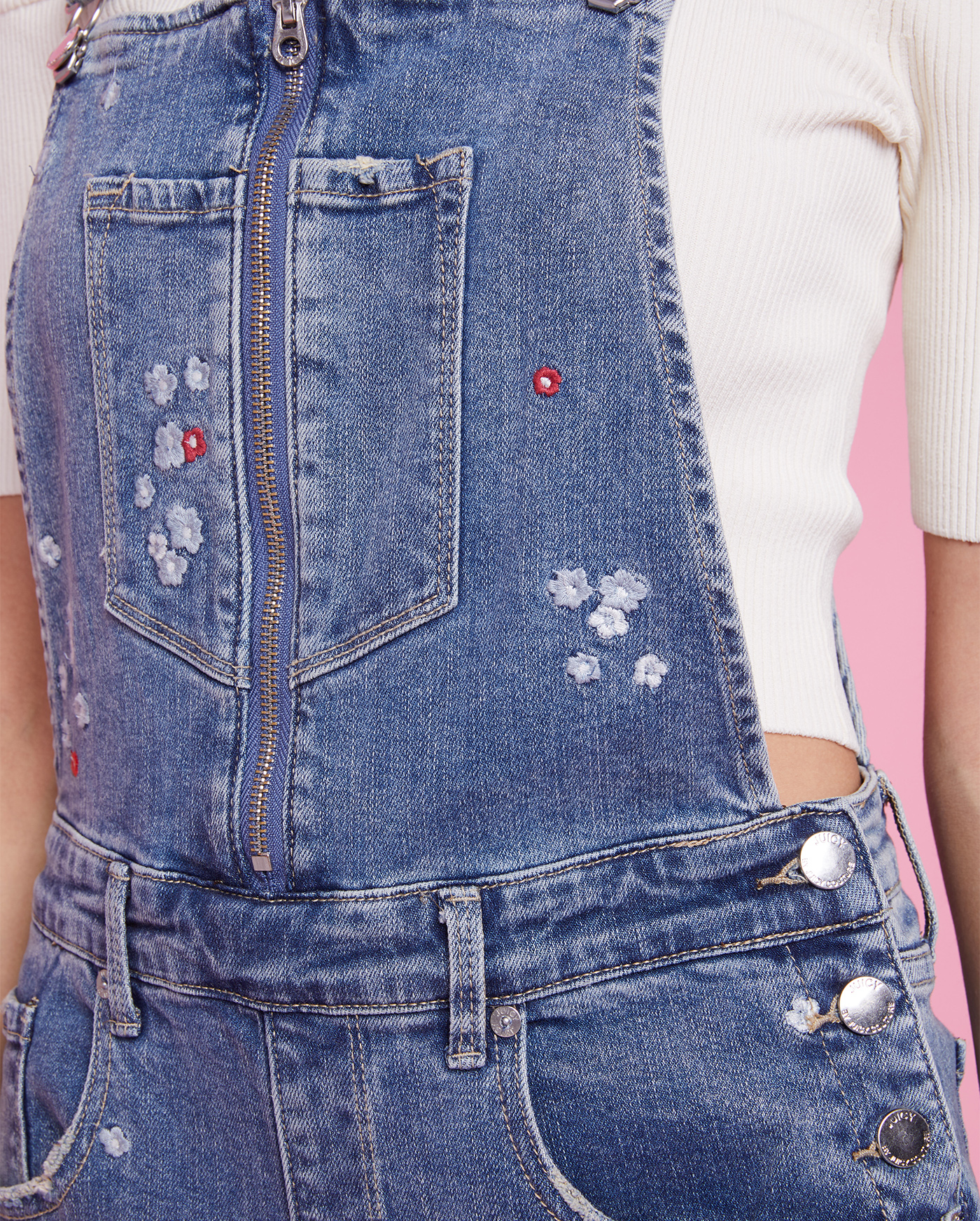 Комбинезон Floral Embroidered Denim