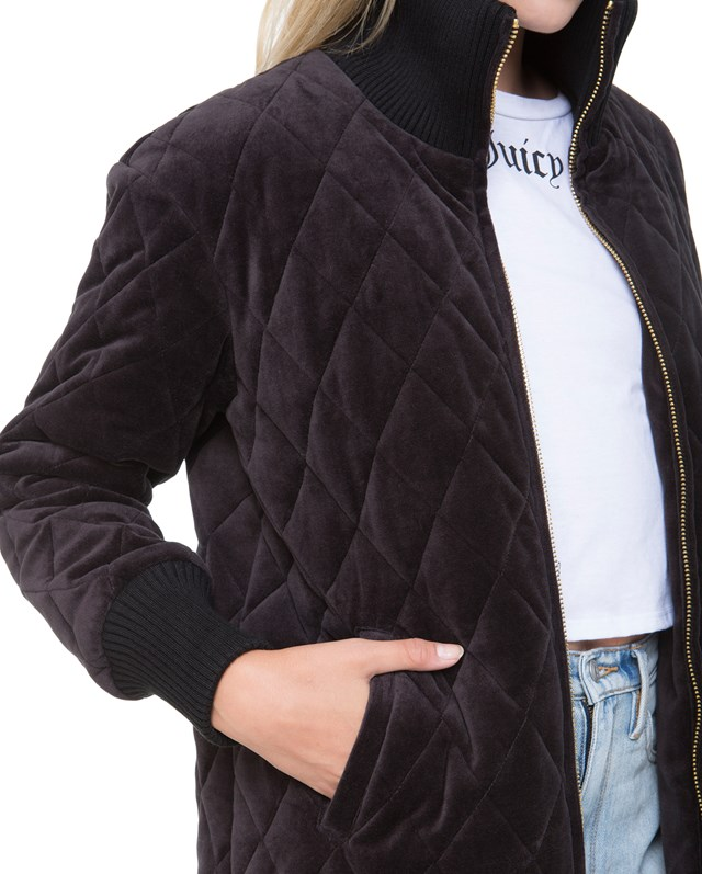Пальто Quilted Velour Puffer