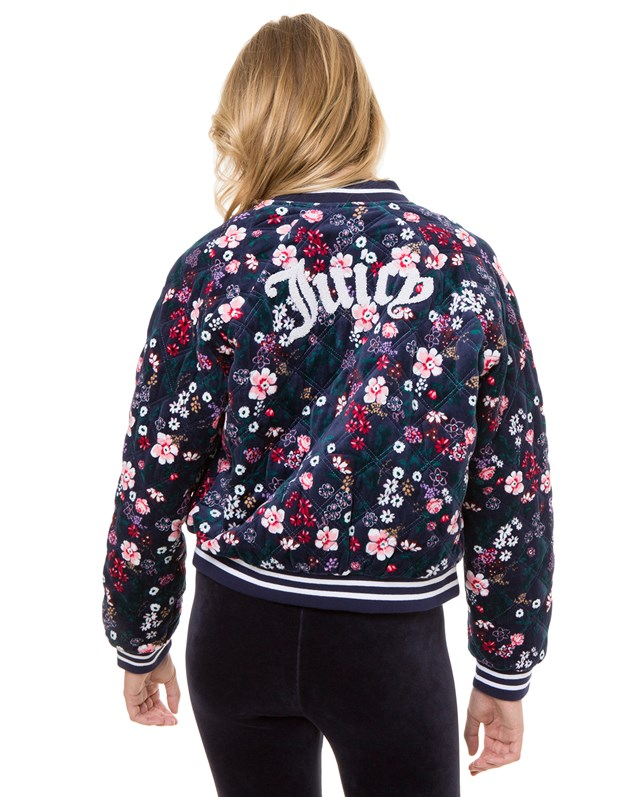 Бомбер Track Floral Quilted Velour