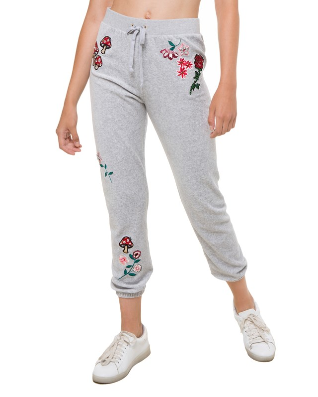 Брюки Floral Couture Velour Silver Lake
