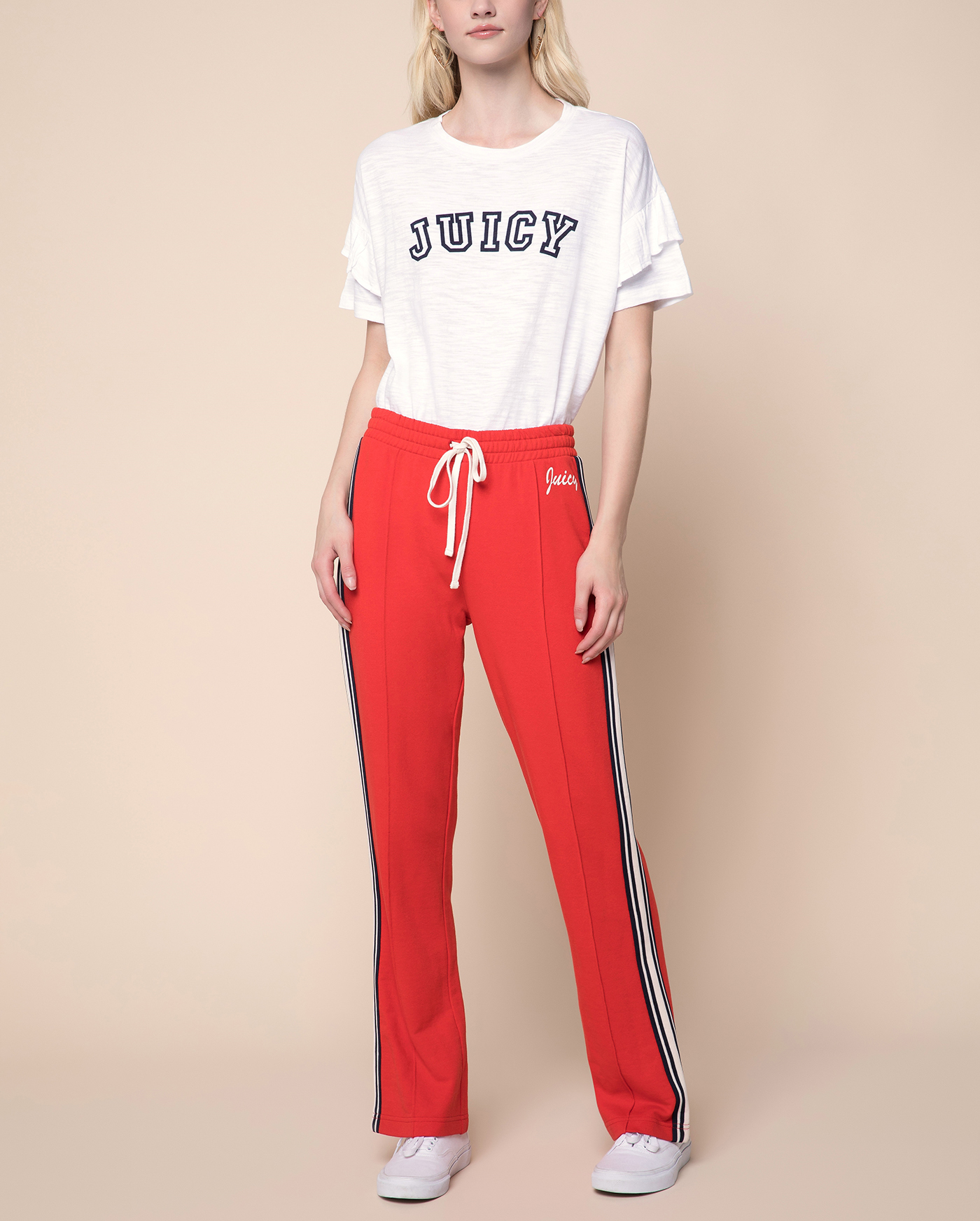 Брюки Juicy Logo Wide Leg Terry